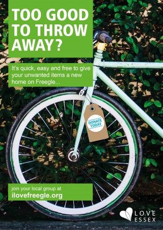 Too good to throw away?  Love Essex Reuse Campaign