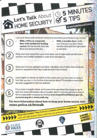 Home Security Advice from Essex Police
